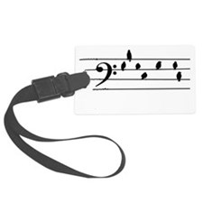 Music - Bass Clef birds as notes Luggage Tag