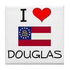 I Love DOUGLAS Georgia Tile Coaster