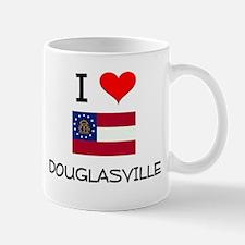 I Love DOUGLASVILLE Georgia Mugs