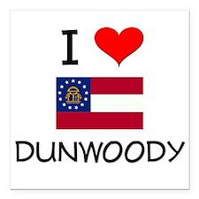 "I Love DUNWOODY Georgia Square Car Magnet 3"" x 3"""