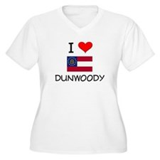 I Love DUNWOODY Georgia Plus Size T-Shirt