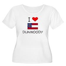 I Love DUNWOODY Georgia Plus Size T-Shirt