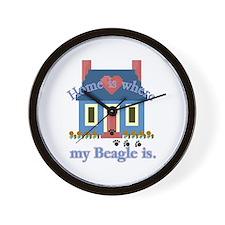 Beagle Home Is Wall Clock