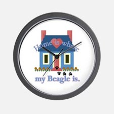 Beagle Home Is Wall Clock