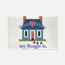 Beagle Home Is Rectangle Magnet (10 pack)