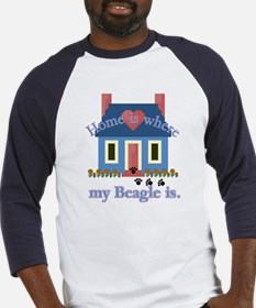 Beagle Home Is Baseball Jersey
