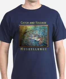 Muskellunge<br>T-Shirt BLUE, RED, GREEN, BLK