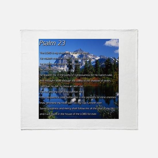 Psalm 23 Throw Blanket