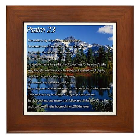 Psalm 23 Framed Tile