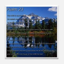 Psalm 23 Tile Coaster