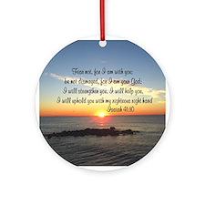 ISAIAH 41:10 Ornament (Round)