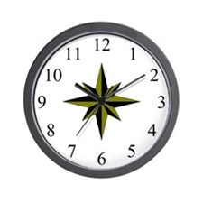 Wall Clock - Compass Rose - Antique