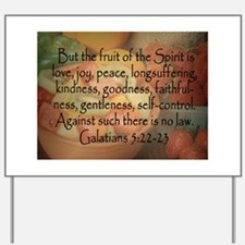 Fruit of the Spirit Photo Yard Sign