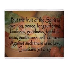 Fruit of the Spirit Photo Throw Blanket