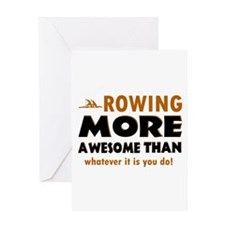 Awesome rowing designs Greeting Card