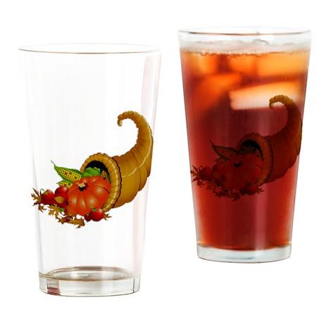 Horn of Pleanty Drinking Glass