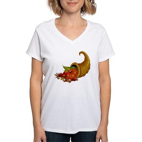 Horn of Pleanty Women's V-Neck T-Shirt