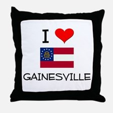 I Love GAINESVILLE Georgia Throw Pillow