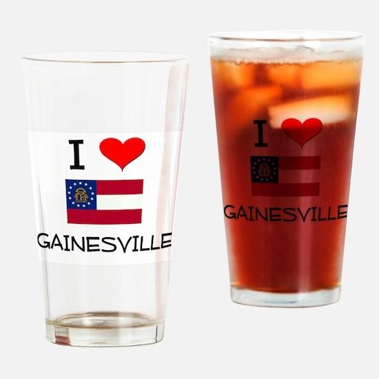 I Love GAINESVILLE Georgia Drinking Glass