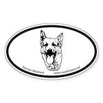 German Shepherd Oval Car Bumper Sticker!