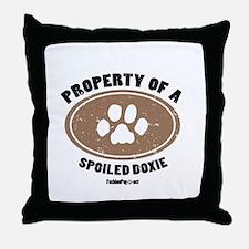 Doxle dog Throw Pillow