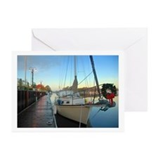 Boating Christmas Greeting Cards