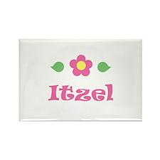 "Pink Daisy - ""Itzel"" Rectangle Magnet"