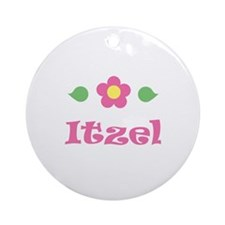 "Pink Daisy - ""Itzel"" Ornament (Round)"