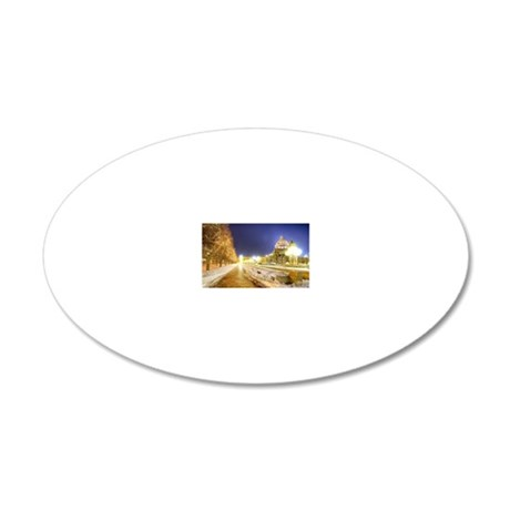 Greatest Building Ever 20x12 Oval Wall Decal