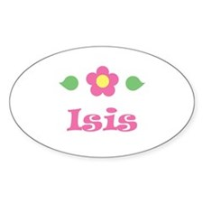 "Pink Daisy - ""Isis"" Oval Decal"