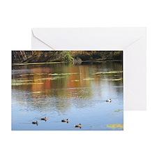 Mantle Lake Autumn Ducks Greeting Card