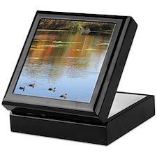Mantle Lake Autumn Ducks Keepsake Box