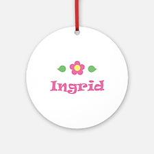 "Pink Daisy - ""Ingrid"" Ornament (Round)"