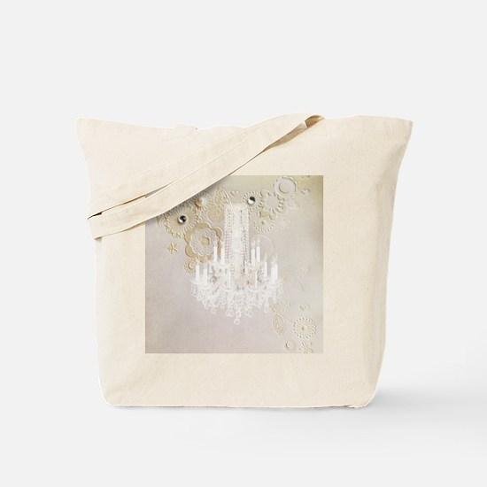 elegant chandelier floral paris Tote Bag