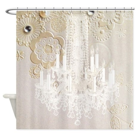 Elegant Chandelier Floral Paris Shower Curtain By Listing