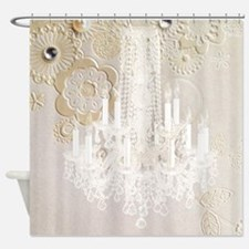 elegant chandelier floral paris Shower Curtain