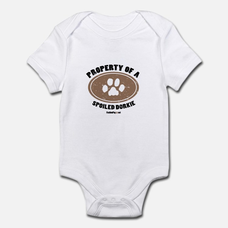 Dorkie dog Infant Bodysuit