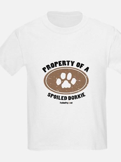 Dorkie dog Kids T-Shirt