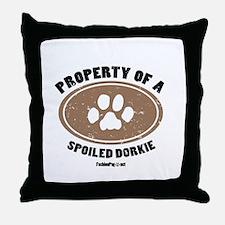 Dorkie dog Throw Pillow
