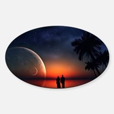 A Lovers Hands Sticker (Oval)