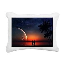 A Lovers Hands Rectangular Canvas Pillow