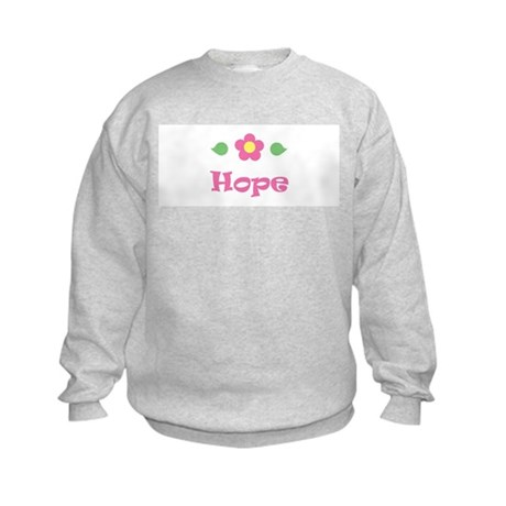 "Pink Daisy - ""Hope"" Kids Sweatshirt"