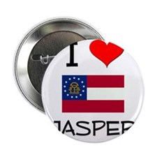 """I Love JASPER Georgia 2.25"""" Button"""