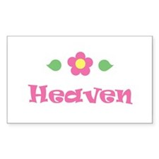 "Pink Daisy - ""Heaven"" Rectangle Decal"
