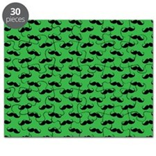 Mustache Green Puzzle