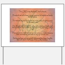 Psalm 23 Orange Script Yard Sign