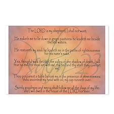 Psalm 23 Orange Script Postcards (Package of 8)