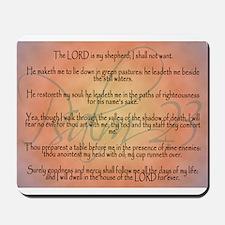 Psalm 23 Orange Script Mousepad