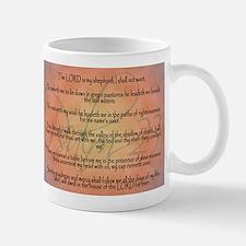 Psalm 23 Orange Script Mug