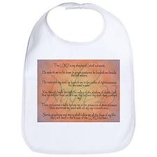 Psalm 23 Orange Script Bib